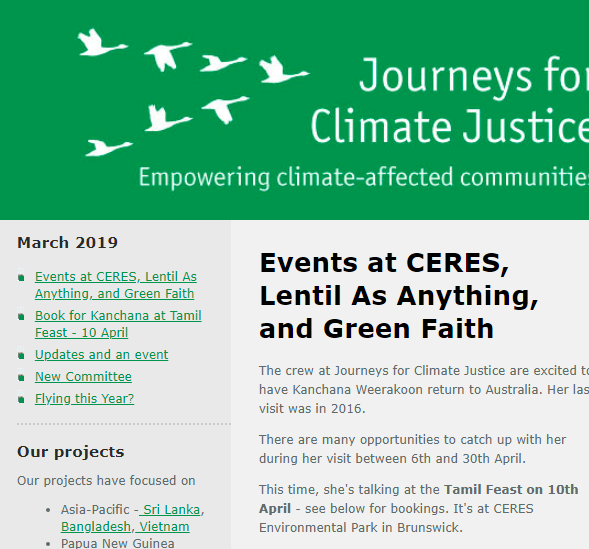 March JCJ email newsletter | Journeys for Climate Justice